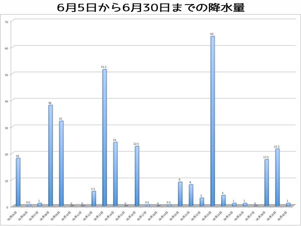 6月の降水量