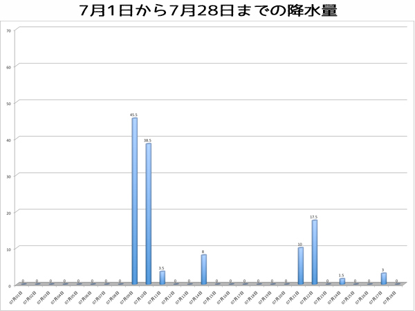 7月の降水量