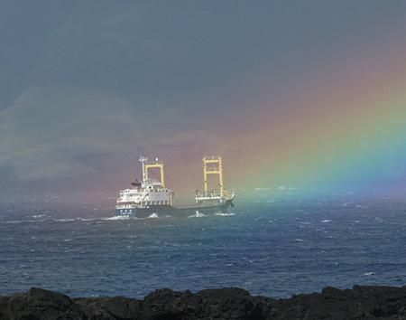 虹を渡って