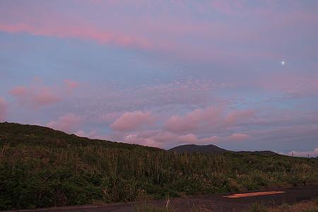 夕焼け色の道