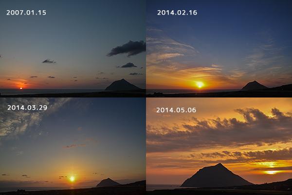 徳里山からの夕焼け